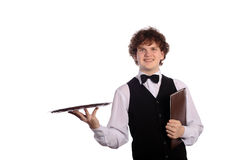 Handsome waitress Royalty Free Stock Photo
