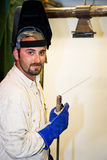 Handsome Welder Stock Photography
