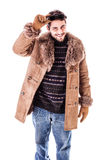 Handsome winter guy Royalty Free Stock Image
