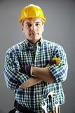 Handsome worker royalty free stock photos