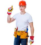Handsome worker man Stock Photos
