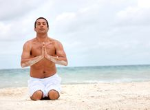 Handsome yoga man Royalty Free Stock Photography