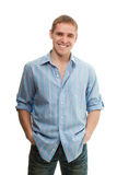 Handsome young adult man portrait Stock Image