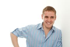 Handsome young adult man portrait Stock Images