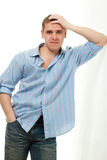 Handsome young adult man portrait Stock Photography