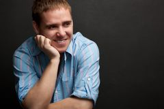 Handsome young adult man portrait Royalty Free Stock Photos