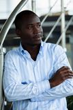 Handsome young african american businessman in office. royalty free stock images