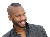 Handsome young african american male model smiling Royalty Free Stock Photography