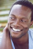 Handsome young african american man smiling Stock Photography