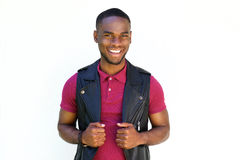 Handsome young  african guy smiling Royalty Free Stock Photos