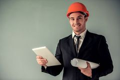 Handsome young architect Royalty Free Stock Photos