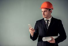 Handsome young architect Stock Photos