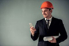 Handsome young architect Stock Images