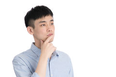 Handsome young asia man - isolated over a white background Stock Images