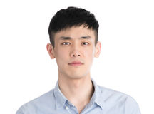 Handsome young asia man - isolated over a white background Royalty Free Stock Photography