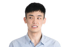 Handsome young asia man - isolated over a white background Stock Image