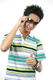 Handsome young asian guy 9 Royalty Free Stock Photo