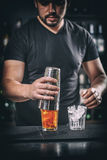 Handsome young barman Royalty Free Stock Photo