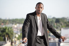 Handsome young black businessman Stock Photos