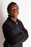 Handsome young black guy posing Royalty Free Stock Photography