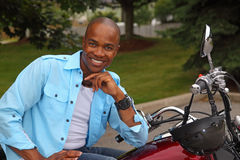 Handsome young black man Stock Images