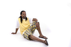 Handsome young black man stock photo