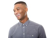 Handsome young black man laughing Royalty Free Stock Image
