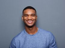 Handsome young black man smiling Royalty Free Stock Images