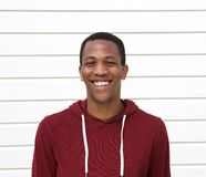 Handsome young black man smiling Stock Photography