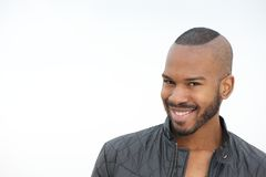 Handsome young black man smiling Royalty Free Stock Photo