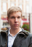 Handsome young blond man Stock Photos