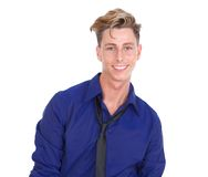 Handsome young blond man smiling Stock Photo