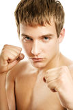Handsome young boxer Stock Images