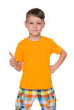 Handsome young boy with his thumb up Royalty Free Stock Images