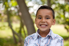 Handsome Young Boy in the Park Stock Photography