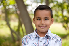 Handsome Young Boy in the Park Royalty Free Stock Photography