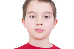 Handsome young boy with a serious expression Stock Photography