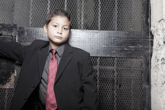 Handsome young boy in a suit Stock Photography