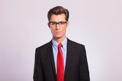 Handsome young business man with glasses Stock Photo