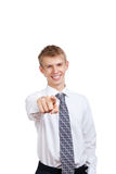 Handsome young business man happy smile Royalty Free Stock Photography