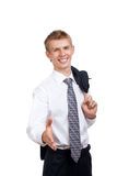 Handsome young business man happy smile Royalty Free Stock Image