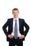 Handsome young business man happy smile Stock Photo
