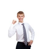 Handsome young business man happy smile Royalty Free Stock Photo
