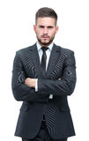 Handsome young business man isolated on white Royalty Free Stock Image