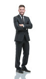 Handsome young business man isolated on white Royalty Free Stock Images