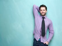 Handsome young business man with necktie Royalty Free Stock Image