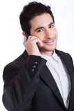 Handsome Young business man on a phone call Stock Photography