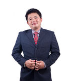 Handsome young business man smiling. Portrait asian businessman people isolated with white background Stock Images