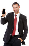 Handsome young business man talking on the phone Royalty Free Stock Photos