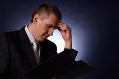 Free Handsome Young Business Man Thinking Stock Photography - 12700112